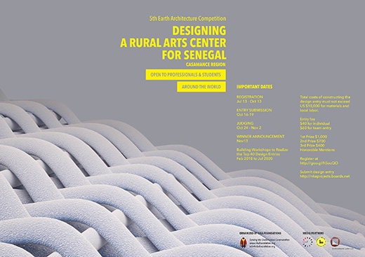 Competition: Designing a rural arts center for Senegal