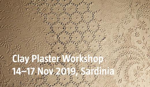 Clay Plaster Workshop, 14-17 Nov 2019, Sardinia