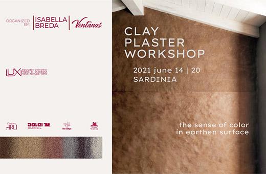 Clay Plaster Workshop, Sardinia, June 2021